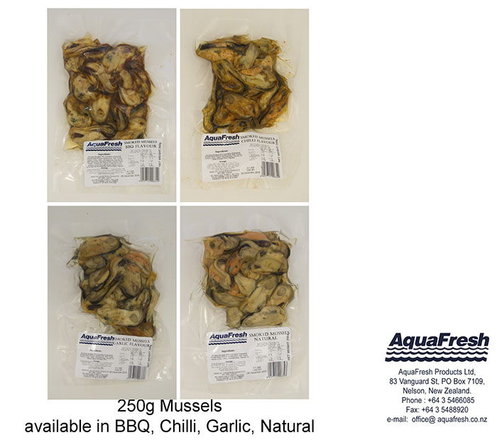 aquafresh brand smoked mussels  mpi  ministry for