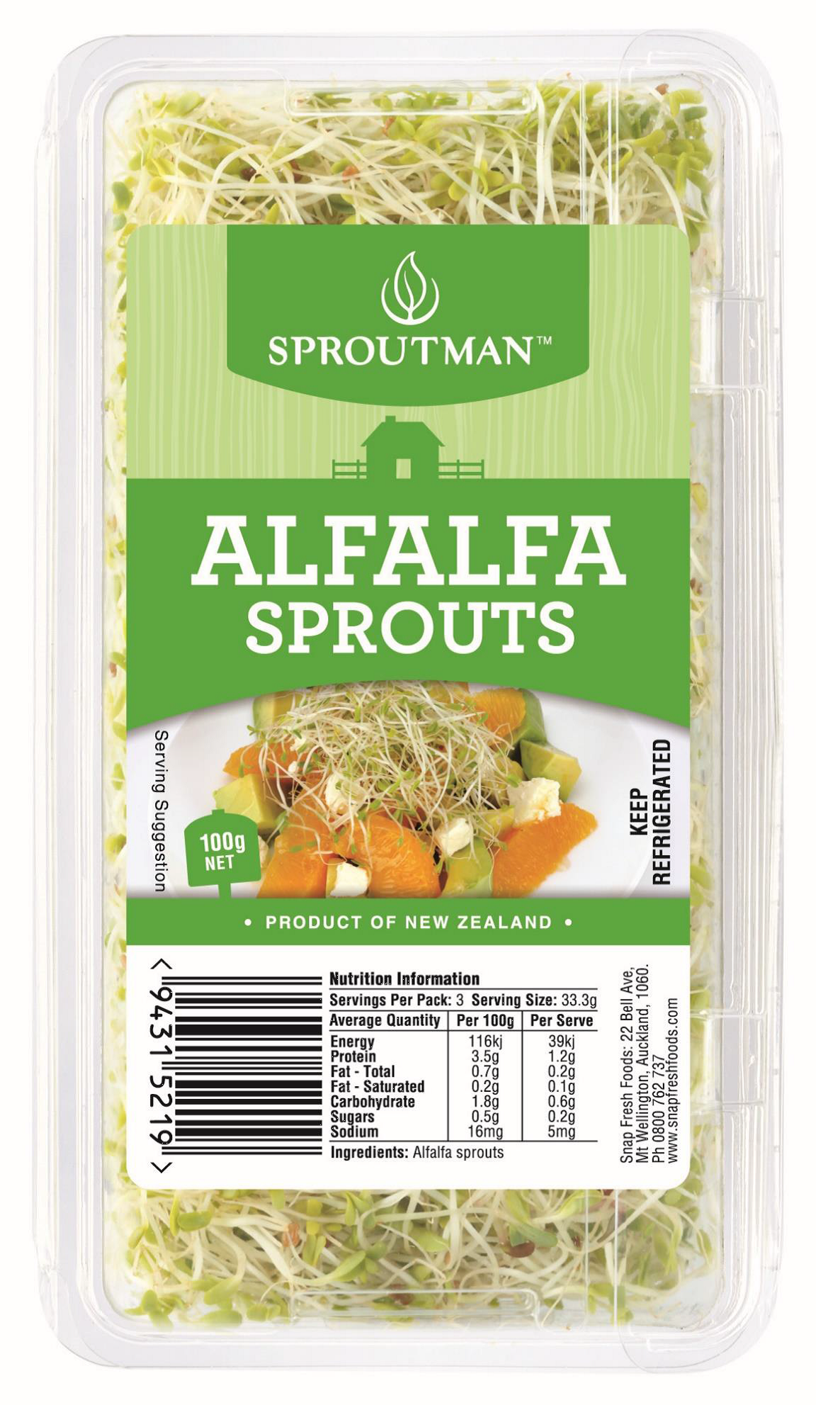 Pams, Fresh Harvest and Sproutman brand Sprout Products | NZ Food