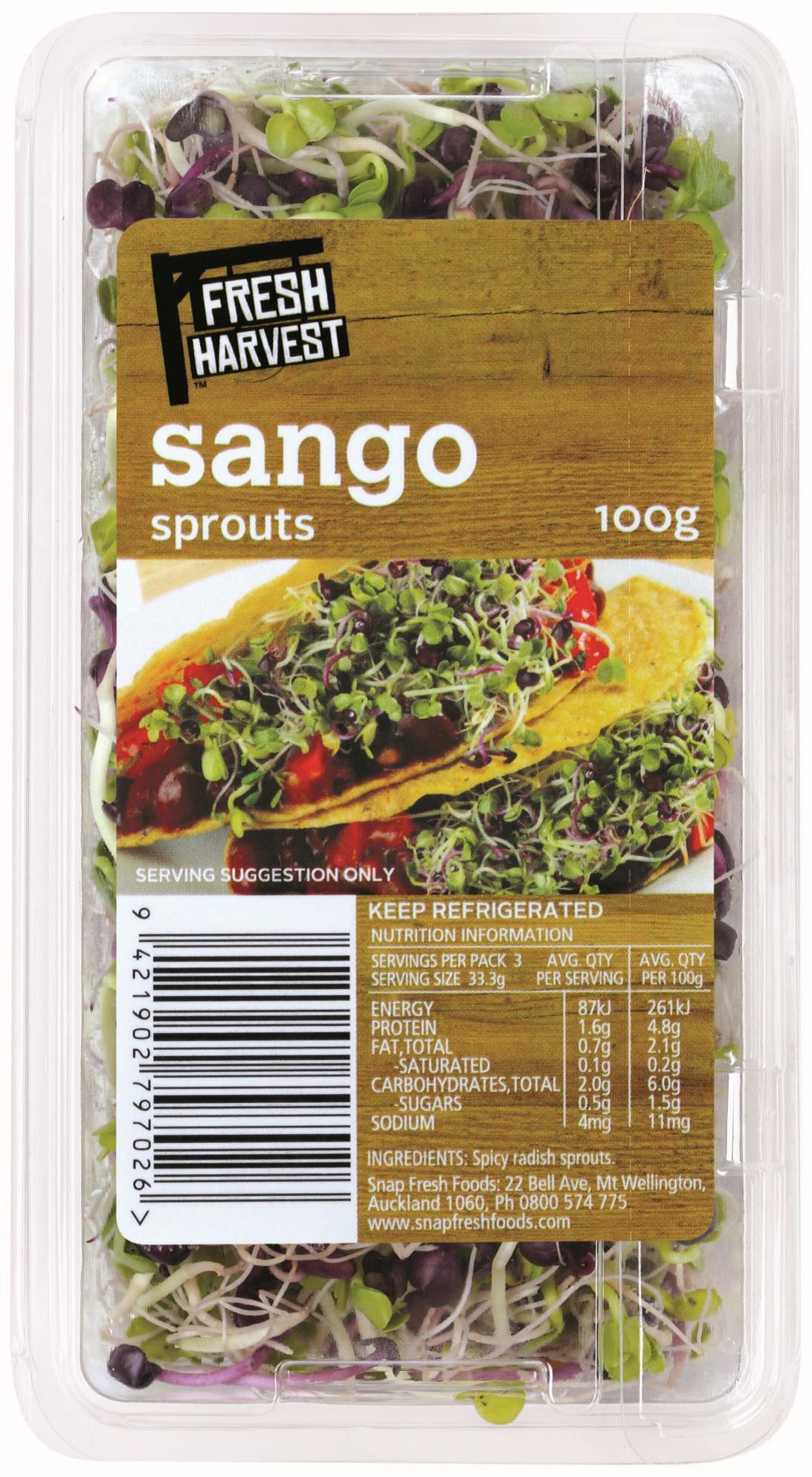 Fresh Harvest Sango Sprouts 100g