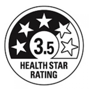 Health Star Rating 3.5 stars circle only
