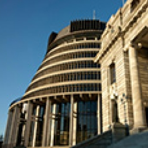 beehive and New Zealand Parliament buildings
