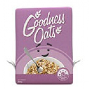 Health Star Rating goodness oats cereal box 200x140px