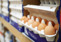 eggs on a supermarket shelf