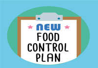 new food control plan printed on paper on a clipboard