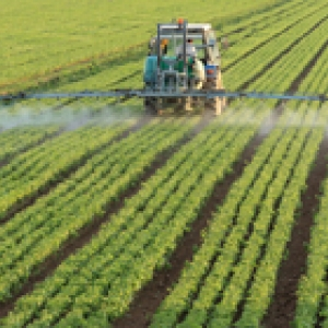 tractor spraying fertiliser
