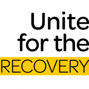 unite for the recovery logo reversed homepagetile
